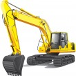 Large excavator — Stock Vector