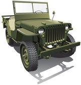 Askeri jeep — Stok Vektör