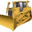 Light-brown dozer - Stock Vector