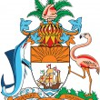 Coat of arms of Bahamas - Stock Vector