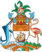 Coat of arms of Bahamas — Stock Vector