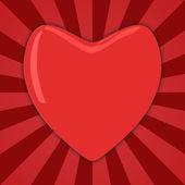 Gran corazón rojo — Foto de Stock