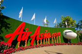 AirAsia on the exhibition — Stock Photo