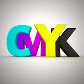 Letters CMYK — Stock Photo