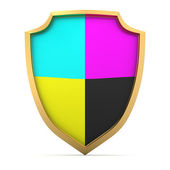 Palette on the shield — Stock Photo