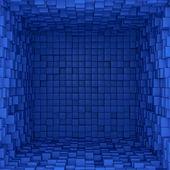 Binnenkant van blue box — Stockfoto