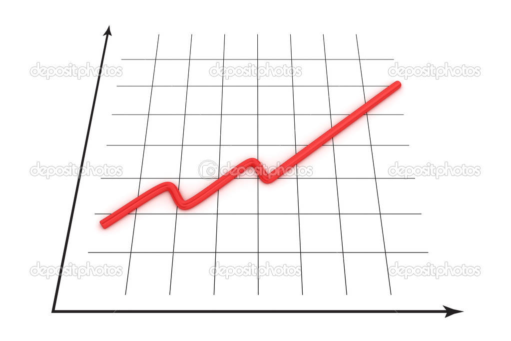 Graph of growth curve  Stock Photo #12299577