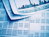 Showing business and financial report. — Stock Photo