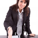 Business woman offering handshake — Stock Photo #11228631