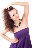 Young and beautiful woman posing — Stock Photo