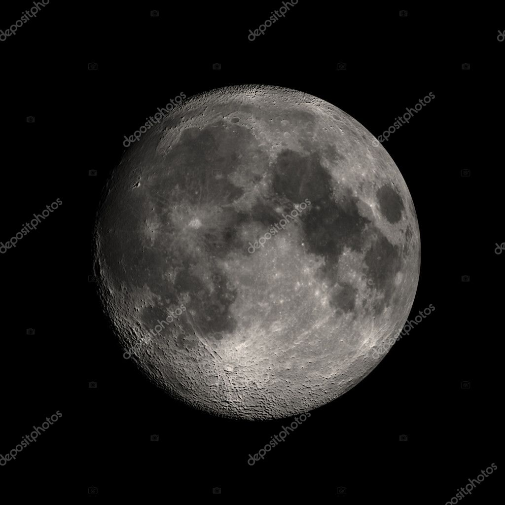 Moon, isolated over black — Stock Photo #11228621