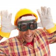 Happy construction worker - Stock Photo