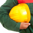 Worker holding helmet — Stock Photo #11231403