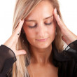Young business woman with headache — Stock Photo #11249602