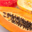 Papaya, melon and watermelon — Stock Photo