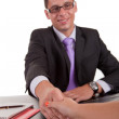 Business man offering handshake — Stock Photo