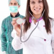 Nurse and medic — Stock Photo
