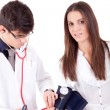 Blood pressure measuring - Stock Photo