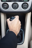 Man in car — Stock Photo