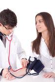 Blutdruck messen — Stockfoto