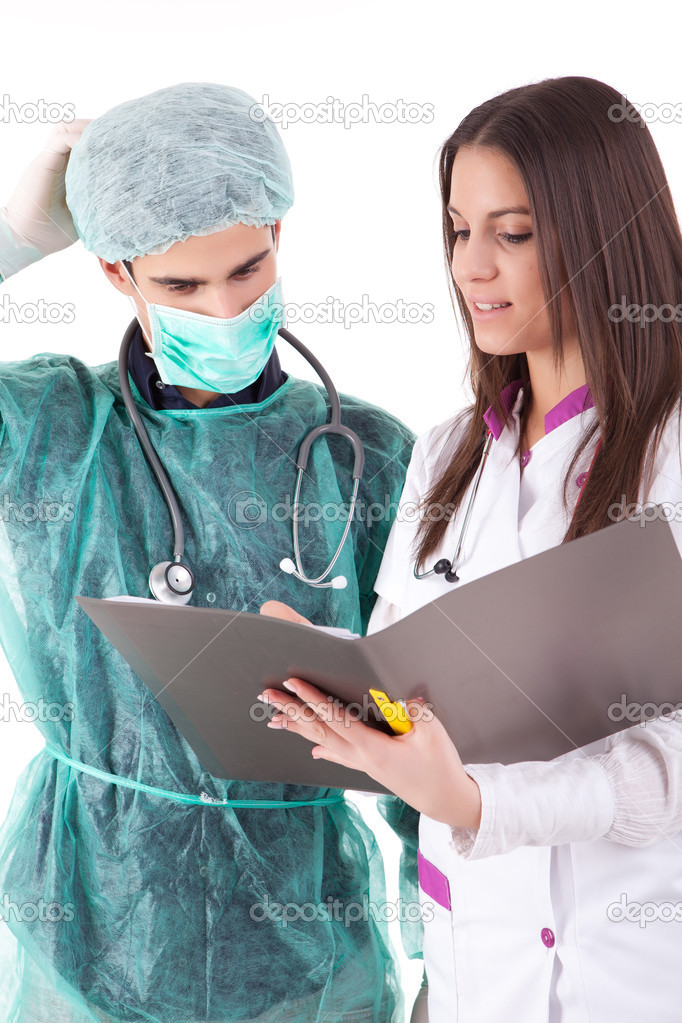 Team of young nurse and medic — Stock Photo #11254549