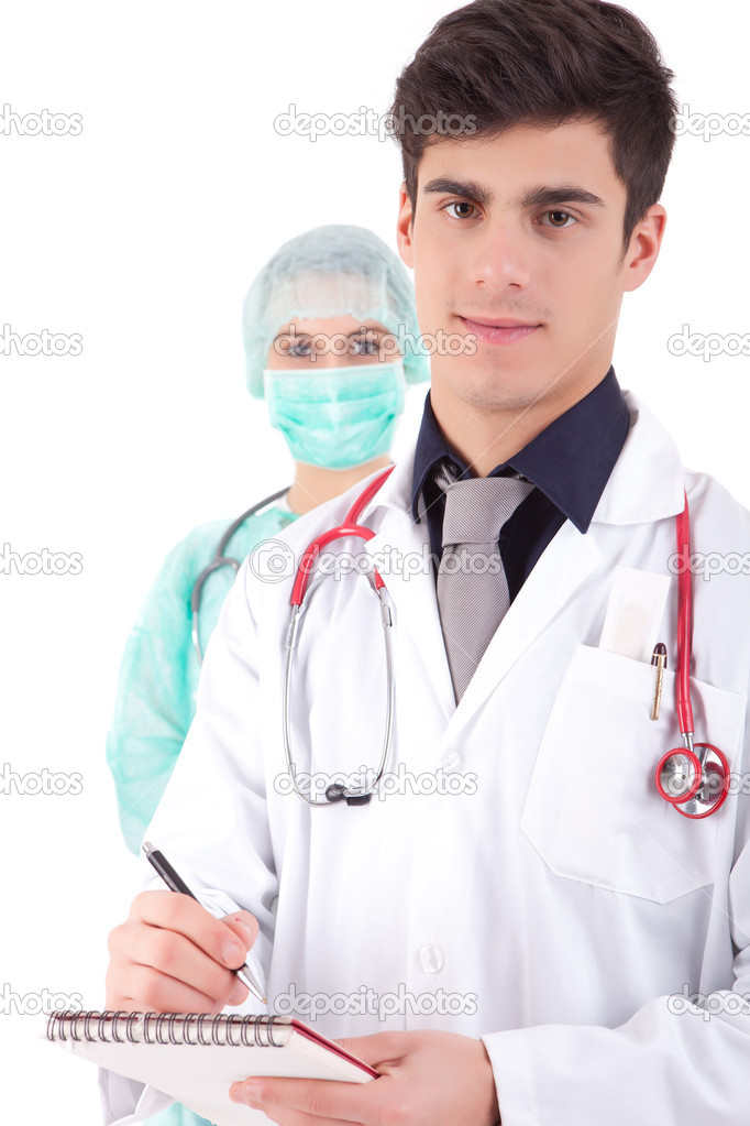 Team of young nurse and medic — Stock Photo #11254554