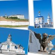 Beautiful landscape with a kind on Kremlin, city Kazan — Stock Photo