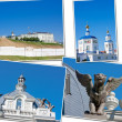 Stock Photo: Beautiful landscape with a kind on Kremlin, city Kazan