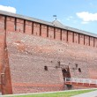 Fragment of the Kremlin wall, city Kolomna, Moscow area, — Stock Photo