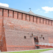 Stock Photo: Fragment of the Kremlin wall, city Kolomna, Moscow area,