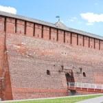 Fragment of the Kremlin wall, city Kolomna, Moscow area, — Stock Photo