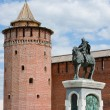 Stock Photo: Monument to Dmitry Don at Kremlin wall, city Kolomna, Moscow