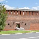 Fragment of the Kremlin wall, city Kolomna, Moscow area, Russia — Stock Photo