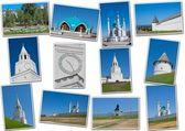 Piękny krajobraz z rodzaju na kremlu, miasta kazan — Zdjęcie stockowe