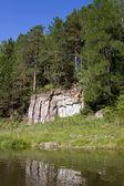 Nehir üzerinde güzel doğa — Stok fotoğraf