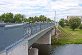 Brücke über den fluss, stadt kolomna, moskauer gebiet — Stockfoto