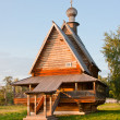 Church, museum of wooden architecture, Vladimirskiy area, Russia - Stock Photo