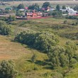 Summer landscape, kind from a tower, city Suzdal, Russia — Stock Photo