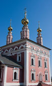 Church Flora and Lavra, city Suzdal, Russia — Stock fotografie