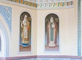 Innenraum des orthodoxen tempel, stadt susdal, russland — Stockfoto