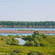 Stock Photo: Summer landscape on river of Cauldron, city Kazan, Russia