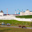 Beautiful landscape with a kind on Kremlin, city Kazan, Russia — Stock Photo