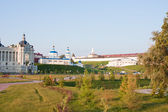 Fragment of palace of farmers and Kremlin, city Kazan, Russia — Foto de Stock
