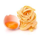 Fettuccine pasta italiana uovo nido — Foto Stock