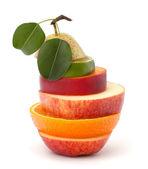 Rodajas de frutas mixtas — Foto de Stock