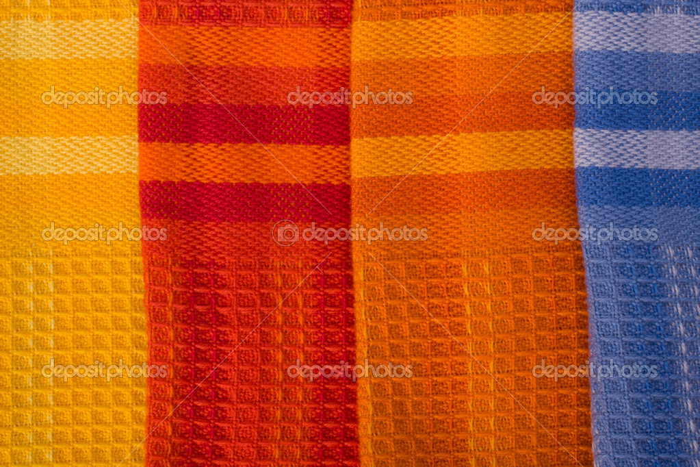 Colourful honeycomb textile background — Stock Photo #10794357