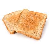 Crusty bread toast slice isolated on white background — Stock Photo