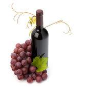 Rött vin flaska — Stockfoto