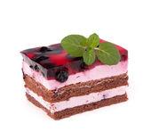 Pyszne ciasto kawałek — Zdjęcie stockowe