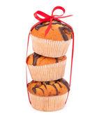 Muffin impilati — Foto Stock